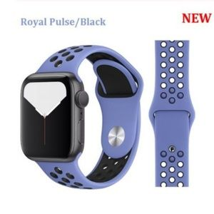 *NEW Royal Pulse Black Sport Band For Apple Watch